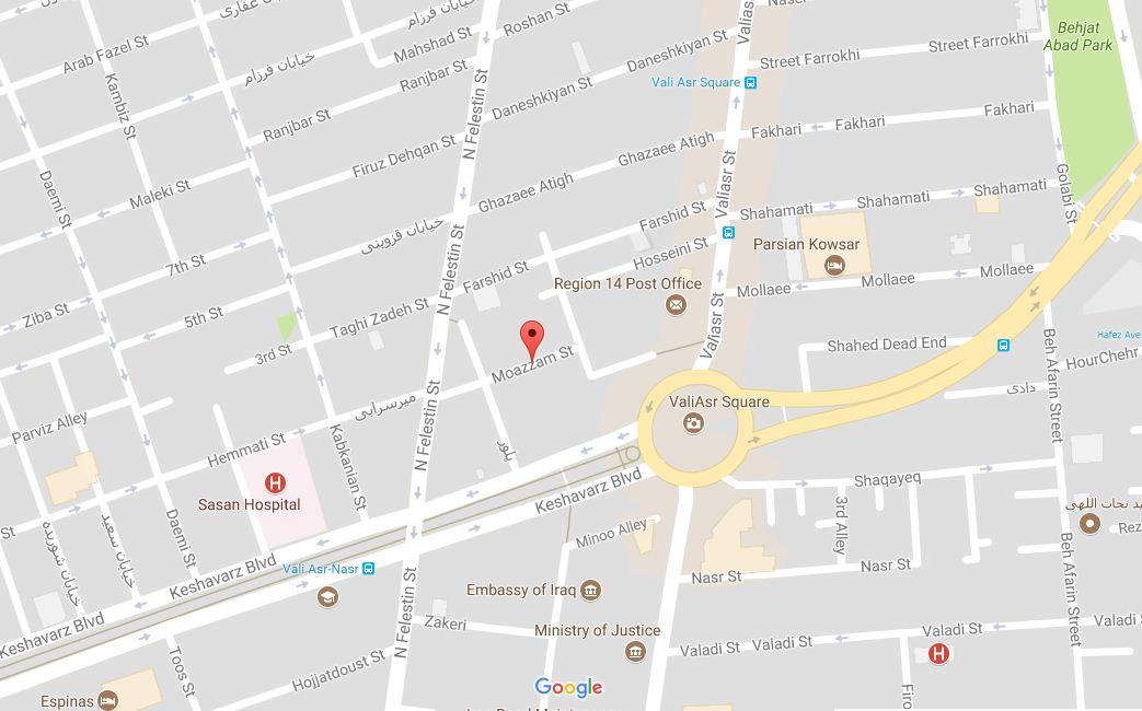 آدرس تهران لوح:میدان ولیعصر,خیابان معظم,پلاک 4, طبقه3