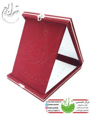 جعبه جیر خام لوح تقدیرجعبه مخمل وجیر خام مخصوص تقدیرنامه و لوح