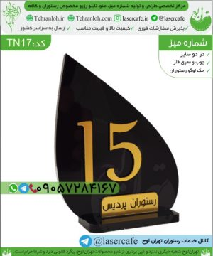 TN17-شماره میزبرجسته