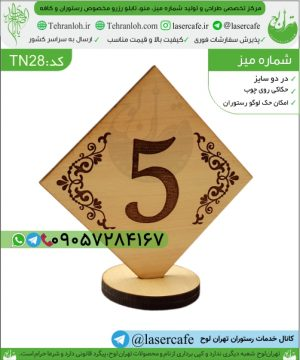 TN28-wooden number