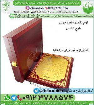TD02-خرید لوح یادبود جعبه دار چوبی