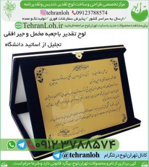 TJL07-لوح تقدیرنامه افقی جعبه جیر