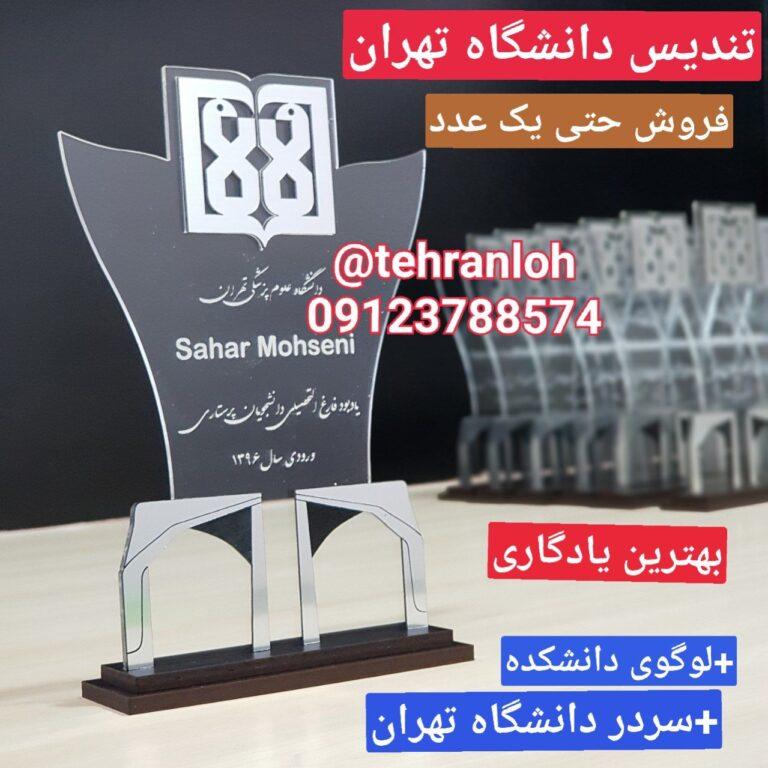 تندیس دانشگاه تهران با نماد سردر دانشگاه