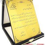 تقدیرنامه جعبه جیر شرکت فنرلول ایران