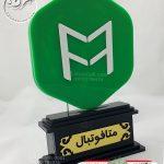 تندیس پلکسی گلاس ورزشی با لوگوی سازمان ویژه متافوتبال