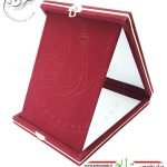 جعبه مخمل وجیر خام مخصوص تقدیرنامه و لوح