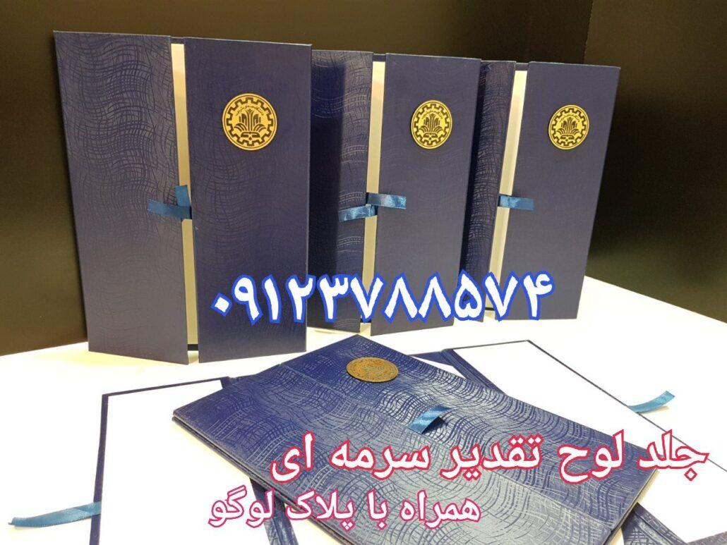 لوح تقدیر دانشگاه شریف برای اساتید